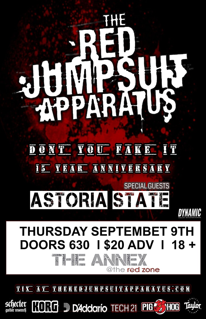 The Red Jumpsuit Apparatus - Don't You Fake It -15 Year Anniversary Tour image
