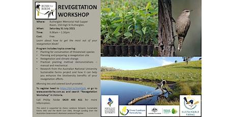 Bush for Birds Revegetation Workshop tickets