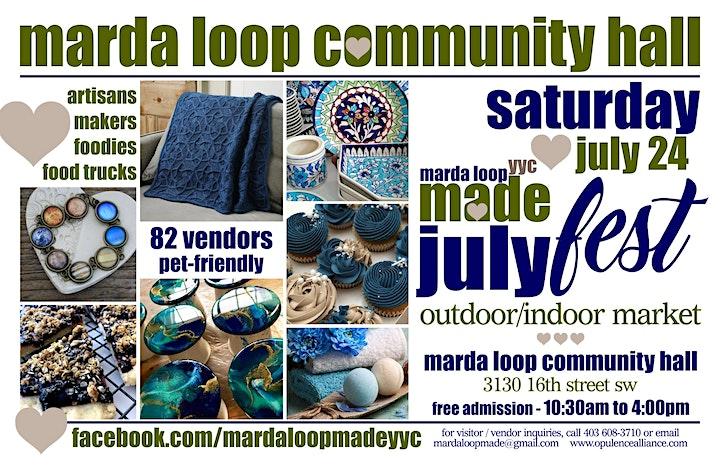 Marda Loop YYC MADE JulyFest OUTDOOR Market image