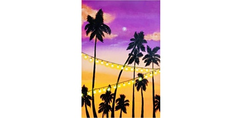 60min Paint Landscape Scenery: Tropical Sunset@1PM  (Ages 6+) tickets