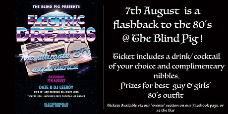 """""""Electric Dreams""""...The ultimate '80s Experience tickets"""