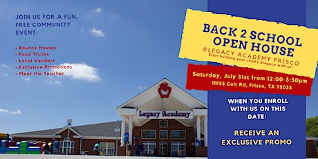 Back to School Open House tickets