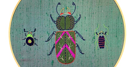 Introduction to Embroidery: Contemporary Insect tickets