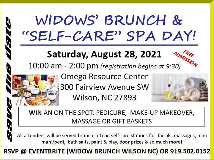 """Widows Brunch & """"Self Care""""  Spa Day image"""