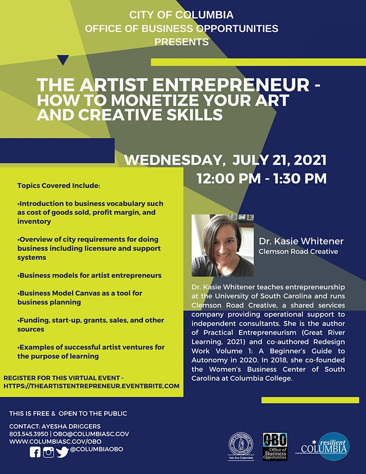 The Artist Entrepreneur -  How to Monetize Your Art and Creative Skills image