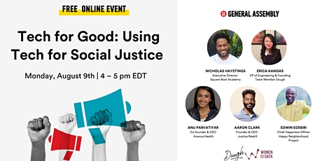 General Assembly | Tech for Good: Using Tech for Social Justice tickets