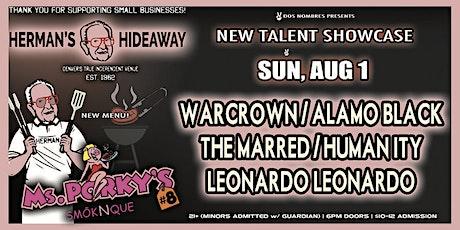 WARCROWN   ALAMO BLACK   THE MARRED   HUMANITY   LEONARDO LEONARDO tickets