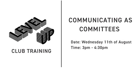 Let's Talk: Communicating With Your Committee Workshop tickets