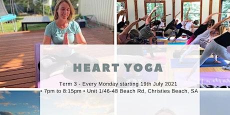 Heart Yoga - Term 3 - Monday Nights tickets