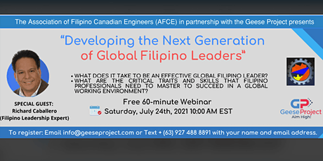 Webinar | Developing the Next Generation of Global Filipino Leaders tickets