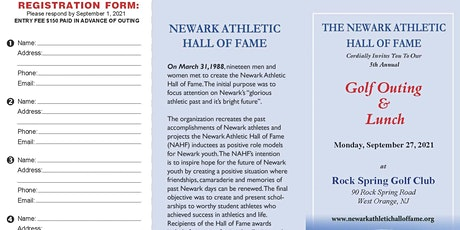 Newark Athletic Hall of Fame 5th Annual Golf Outing tickets