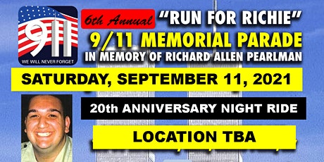 """20th Anniversary  9/11 Memorial """"Run for Richie"""" Motorcycle Parade tickets"""