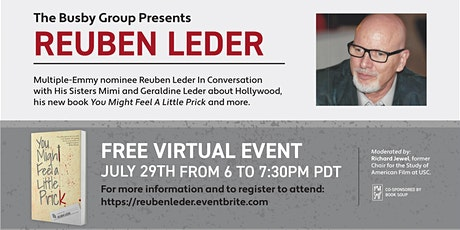 Reuben Leder In Conversation with His Sisters Mimi and Geraldine Leder tickets