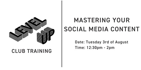 Like, Comment, Subscribe: Mastering Your Social Media Content tickets