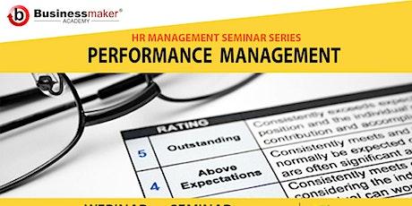 Live Webinar: Performance Management tickets