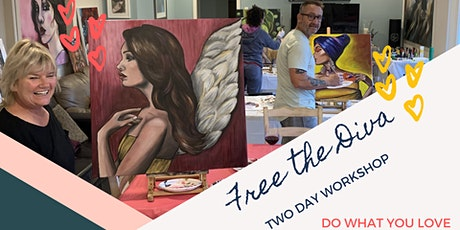 Free The Diva TWO DAY Painting Workshop 25-26 Sept 2021 tickets