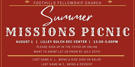 Summer Missions Picnic tickets