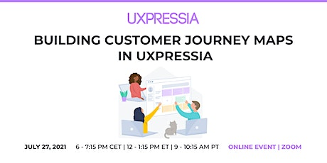 Building Customer Journey Maps in UXPressia tickets
