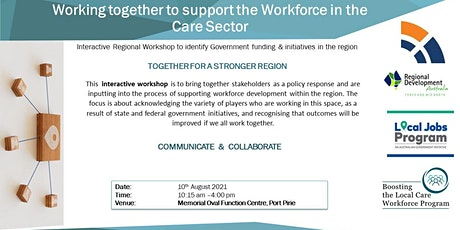 Working together to support the Workforce in the care sector tickets