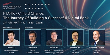 FTAHK x Clifford Chance: The Journey Of Building A Successful Digital Bank tickets