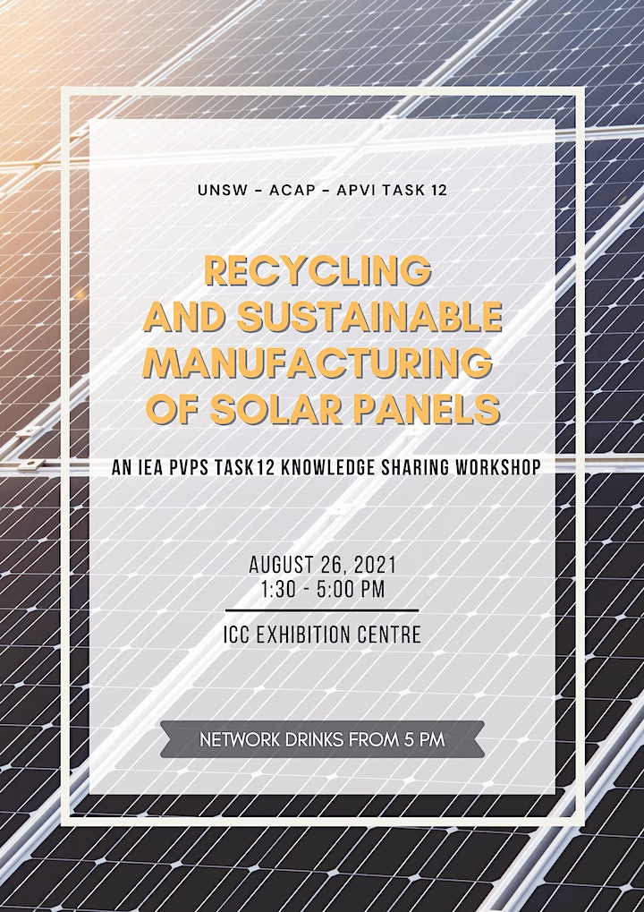 Recycling and sustainable management of solar panels workshop image