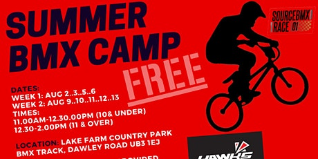 Hawks BMX Summer Camp 11 & Over Sessions tickets