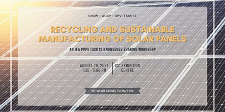 Recycling and sustainable management of solar panels workshop tickets