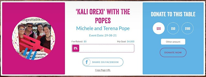 'Kali Orexi' with The Popes - Longest Table Lunch image