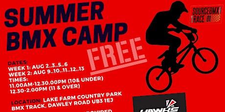 Hawks BMX Summer Camp 10 & Under Sessions tickets