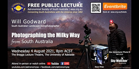 Photographing the Milky Way from South Australia by Will Godward tickets