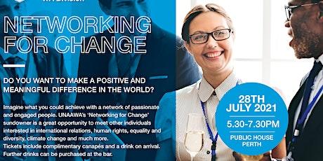 Networking for Change   Sundowner   28 July 2021 tickets