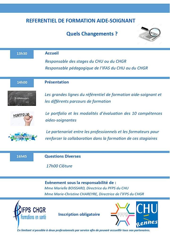 Image pour REFERENTIEL  DE FORMATION AIDE-SOIGNANT  2021 - QUELS  CHANGEMENTS ?