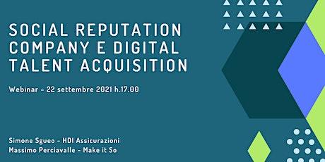 Social reputation company e digital Talent acquisition tickets