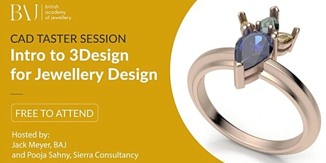 Free CAD webinar: Intro to 3Design for Jewellery Design tickets