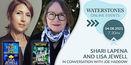 Shari Lapena and Lisa Jewell in conversation with Joe Haddow tickets