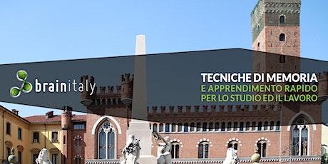Asti: Corso gratuito di memoria biglietti
