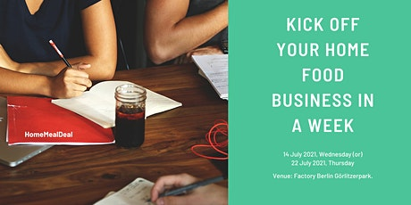 Kickoff your homemade food business in a week. Tickets
