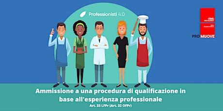 Qualifica in base all'esperienza professionale Art. 33 LFPr (Art. 32 OFPr) tickets