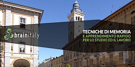 Cuneo: Corso gratuito di memoria biglietti