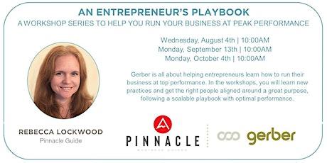 An Entrepreneur's Playbook tickets