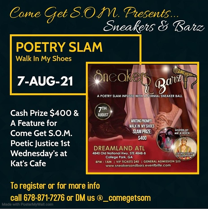 Sneakers & Barz   (Poetry Slam Infused with a Sneaker Ball) image