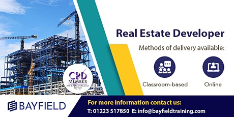 Bayfield Training - Real Estate Developer - Virtual Course tickets