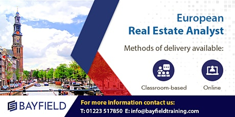 Bayfield Training - European Real Estate Analyst - Virtual Course tickets
