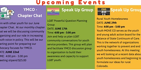 Youth MOVE CO Speak UP group:  Healthy Transitions tickets