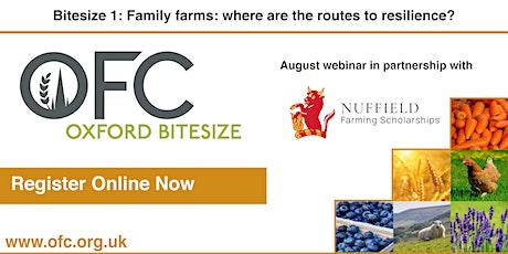 Bitesize 1 - Family farms: where are the routes to resilience? biglietti