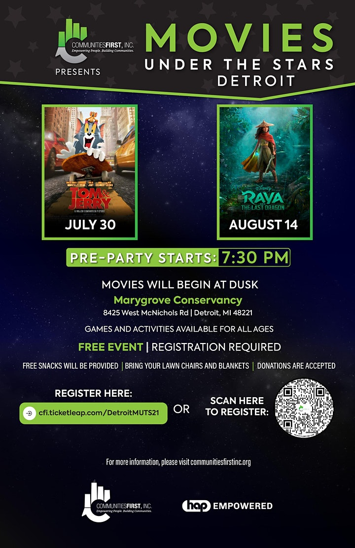 Movies Under the Stars - Detroit image
