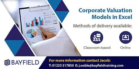 Bayfield Training - Corporate Valuation Modelling - Virtual Course tickets