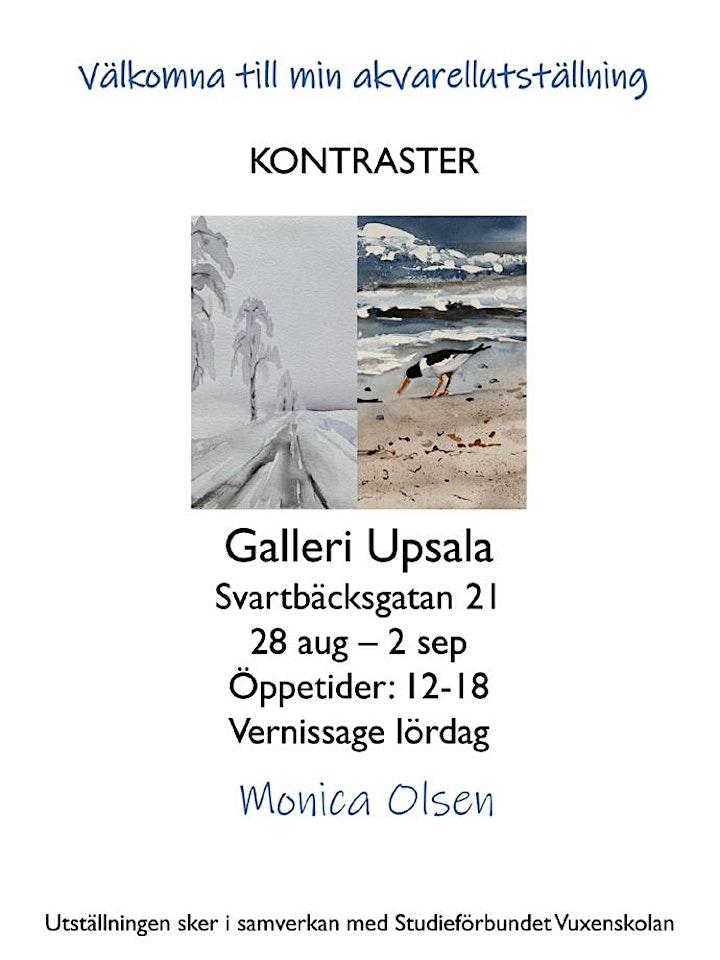 """Monica Olsen - """"Kontraster"""" - Akvarellutställning på Galleri Upsala bild"""