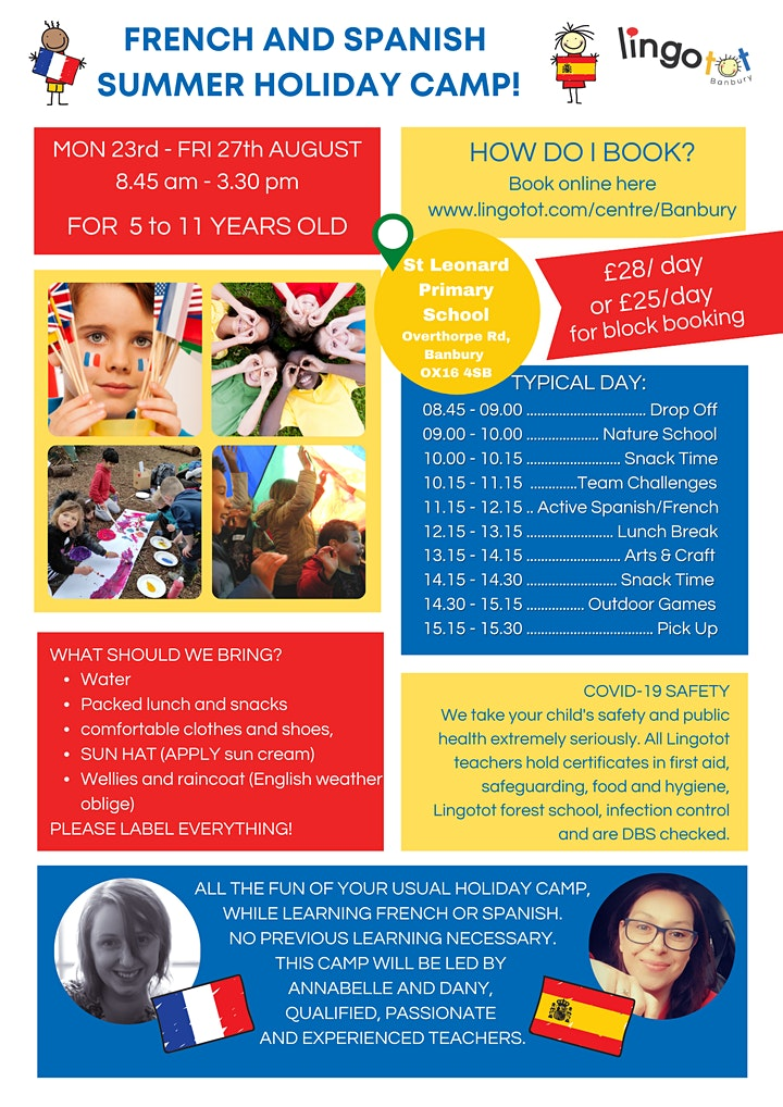 French & Spanish Summer Camps for 5 to 11 years old image