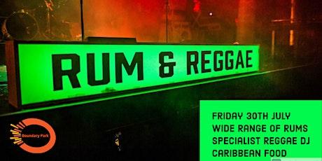 Rum and Reggae Returns tickets